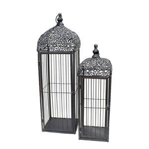 Lanterne cage métal ens.2