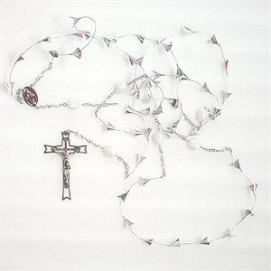 """Rosaire 53 grains croix 4¾"""""""