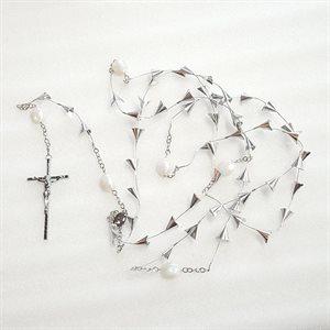 """Rosaire 53 grains croix 4"""""""